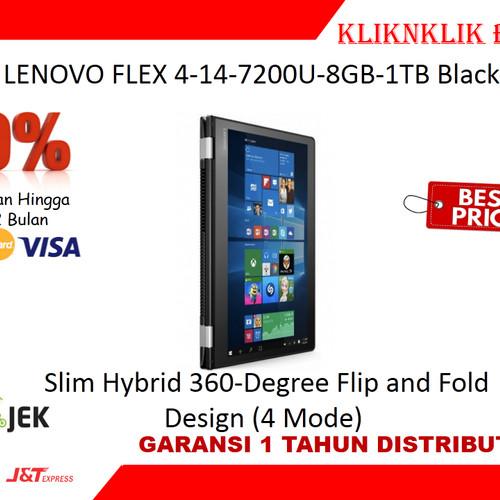Foto Produk LENOVO FLEX 4-14-7200U-8GB-1TB Black - BCP 2 dari kliknklik BCP2