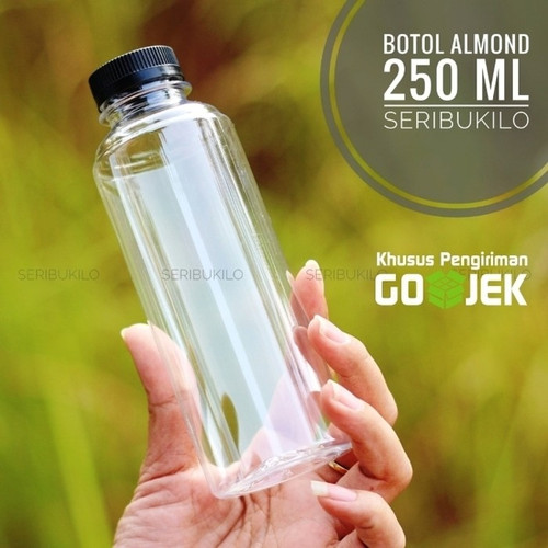Foto Produk Botol Plastik 250ml Almond + Botol Plastik Almond 250ml dari Seribu Online
