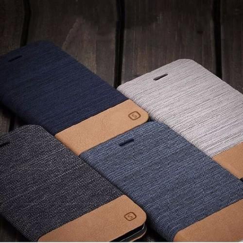 Foto Produk Wallet jeans flip case xperia C5 dompet denim cover canvas slot card dari acosonic