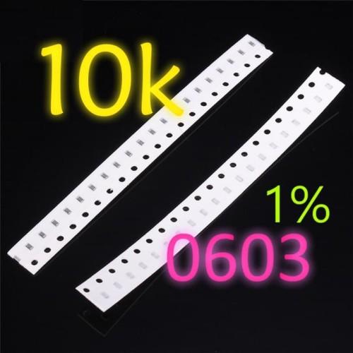Foto Produk SMD 10K Ω Resistor 0603 1608 1% SMT 10KOhm dari Lisu Instrument
