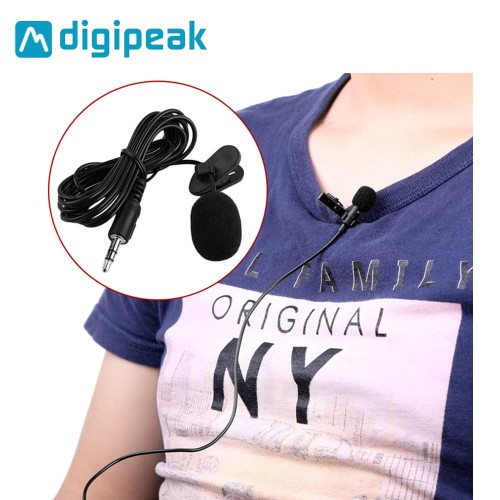 Foto Produk 3.5mm Microphone with Clip for Smartphone / Laptop / Tablet PC - Hitam dari Unitech Official