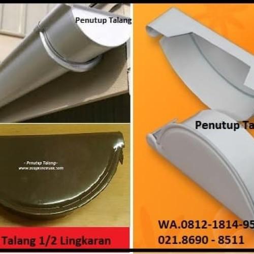 Foto Produk Stoppend / Tutup talang talang air 1/2 lingkaran metal baja zincalume dari Atapzinctruss