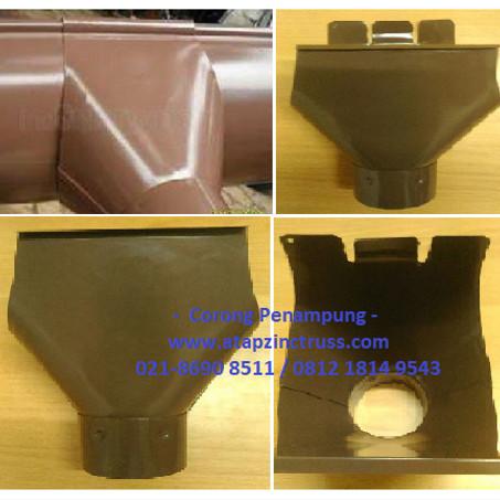 Foto Produk Corong penampung talang air 1/2 lingkaran bahan metal baja zincalume dari Atapzinctruss