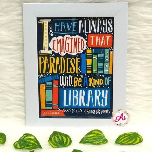 Foto Produk Poster / Pajangan / Wall Decor Shabby: Library dari ai_decor