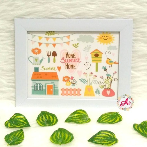 Foto Produk Poster / Pajangan / Wall Decor Shabby: Sweet Home 4 dari ai_decor