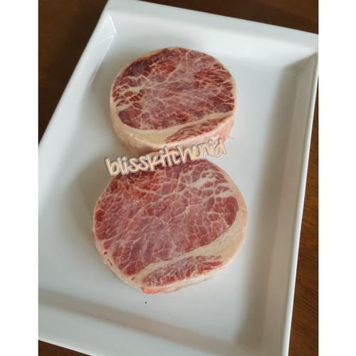 Foto Produk Daging Sapi Kazoku Ribeye Meltique / Meltik Wagyu Beef Steak 200gr dari Bliss Kitchen