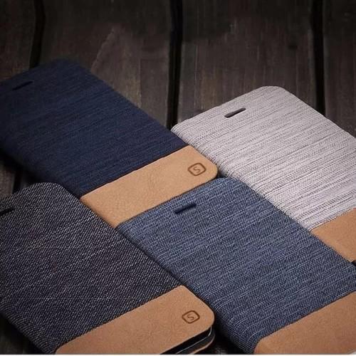 Foto Produk Wallet jeans flip case samsung galaxy S7 EDGE denim cover canvas dari acosonic