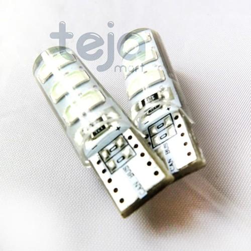 Foto Produk T10 Crystal Jelly 6 Mata STROBO/Kedip Led 5730 Lampu Senja Sen/Sein dari TejaMart