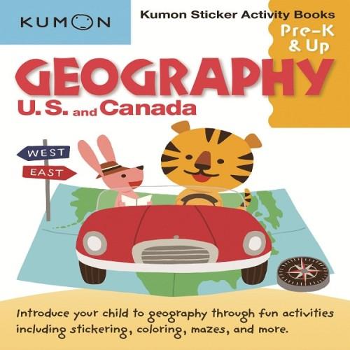 Foto Produk Buku Anak - Kumon - Geography: U.S. and Canada Sticker Activity Book dari Kumon Publishing INA