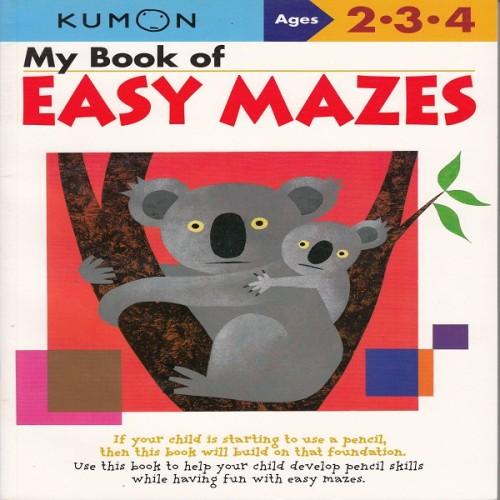 Foto Produk Buku Anak - Kumon - My Book of Easy Mazes dari Kumon Publishing INA