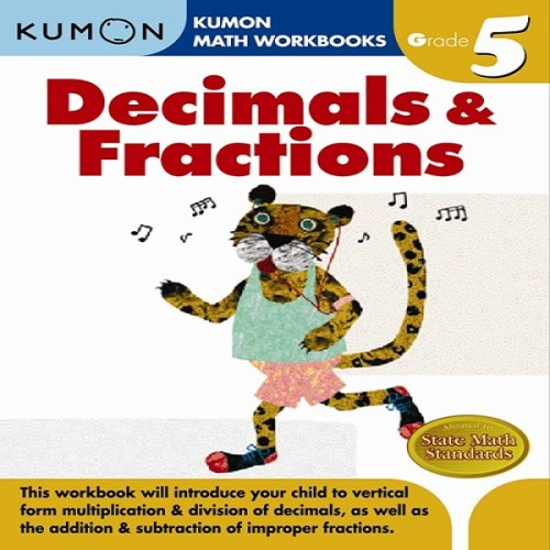 Foto Produk Buku Anak - Kumon - Grade 5 Decimals & Fractions dari Kumon Publishing INA
