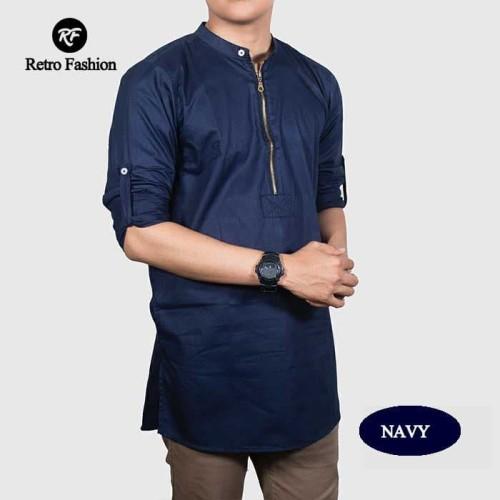 Foto Produk Kurta Zipper Linen/ Baju Koko Pria/ Kemeja Muslim/ Baju Muslim Pria dari RETRO FASHION