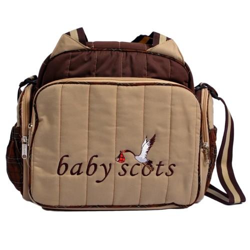 Foto Produk BABY SCOTS Tas Besar Popok Perlengkapan Bayi - DIapers Bag ISEDB016 - Cokelat dari Baby Scots