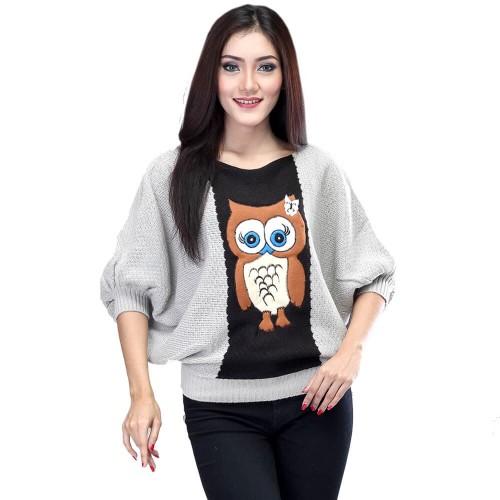 Foto Produk Sweater Rajut Casual Wanita Outwear Wanita Original Inficlo SAD 244 dari Semutabang OLShop