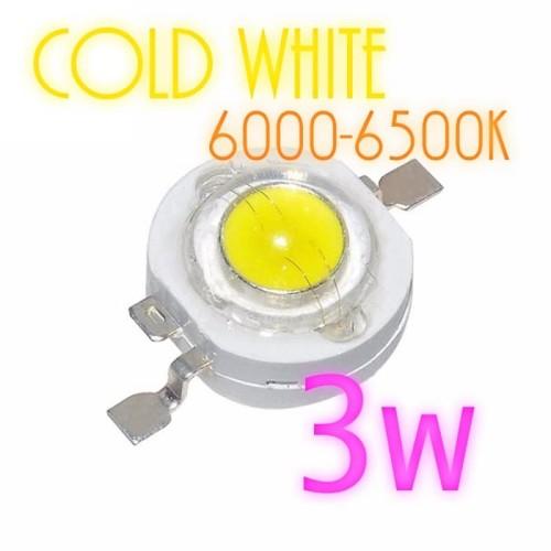 Foto Produk High Power LED 3W COLD White 6000K-6500K 180-280LM 3.4-3.8V- 600MA dari Lisu Instrument