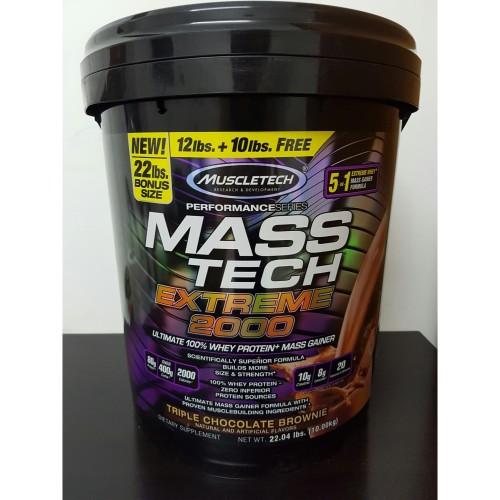 Foto Produk Masstech Extreme 2000 Muscletech 22 lbs Mass Tech Gainer 22lbs 22lb dari MBSUPLEMEN