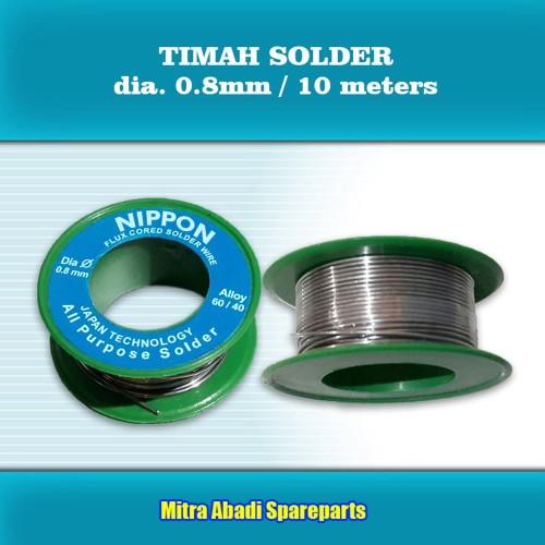 Foto Produk Timah Solder NIPPON dia. 0.8mm / 42 gram / 10m / 42g / 10 meter dari Mitra Abadi Spareparts