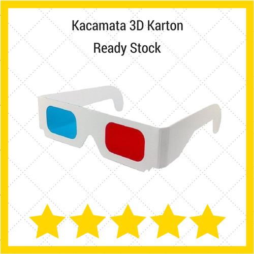 Foto Produk Kacamata 3D Red/Cyan Karton dari Kacamata Dan Film 3D
