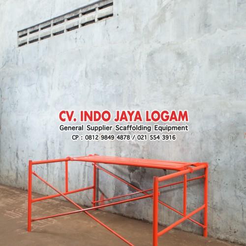 Foto Produk JUAL Steger Stager Stegger Scaffolding 90 cm 1 Set Baru SNI dari Indo Jaya Logam