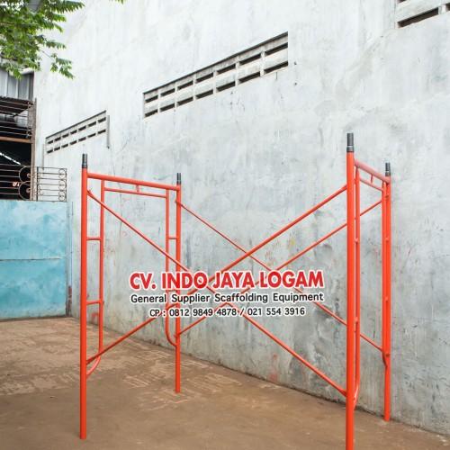 Foto Produk JUAL Steger Stager Stegger Scaffolding 1.90 190 cm 1 Set Baru SNI dari Indo Jaya Logam