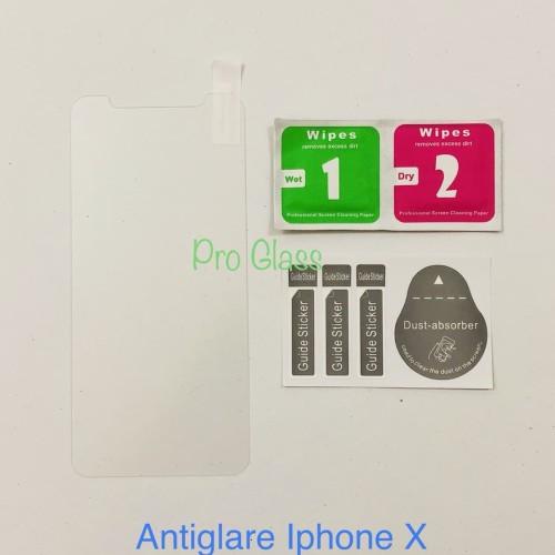Foto Produk Iphone X Anti GLARE /DOFF / MATTE Anti Fingerprint Tempered Glass dari Pro Glass