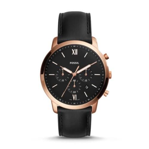 Foto Produk Fossil Neutra Chronograph Black Leather Watch FS5381 dari Luxolite SG Timepieces
