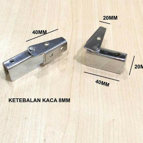 Foto Produk Engsel Pivot Jepit Kaca Ke Kayu dari Toko Income