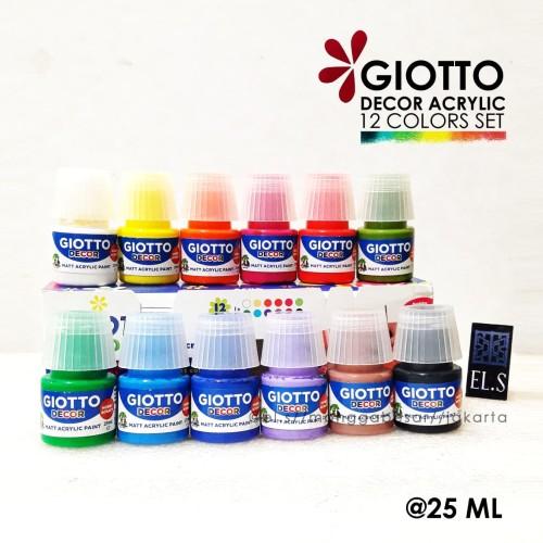 Foto Produk Giotto Decor Acrylic Set 12 Warna 25 ml - Cat Acrylic dari eLs_shop