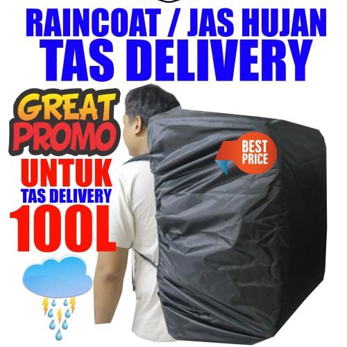 Foto Produk Raincoat jas hujan tas delivery uk 100 liter dari retropickers