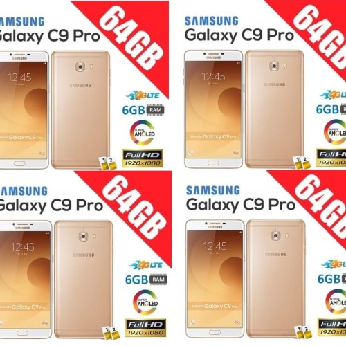 Foto Produk ( Murah RAM 6GB ) Samsung C9 Pro 64GB / 6GB ( SM-C9000 ) - Emas dari JUALGADGETS
