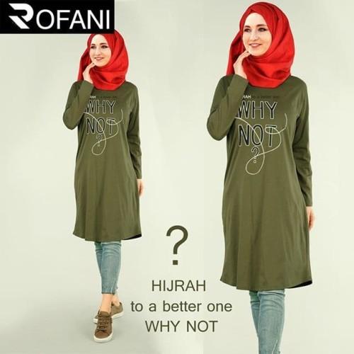 Foto Produk tunik muslim hijrah to a better - Hijau muda, S dari deena deshop