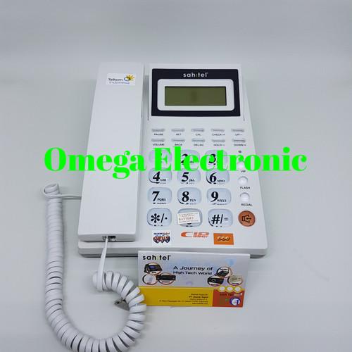 Foto Produk RESMI Sahitel S57 - Telepon Kantor Rumah - Putih dari Omega Electronic