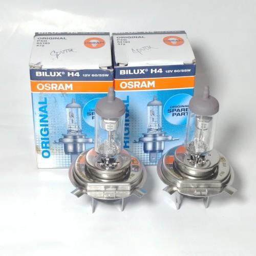 Foto Produk Bohlam Depan Osram Bilux H4 Mobil 2 Pcs (ORIGINAL OSRAM) 60/55W 12V dari Lestari Motor 2