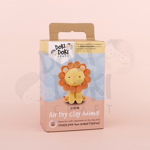 Foto Produk Animal Clay Craft Kit - DIY - Lion / Singa Kerajinan Tangan dari Doki Doki Craft