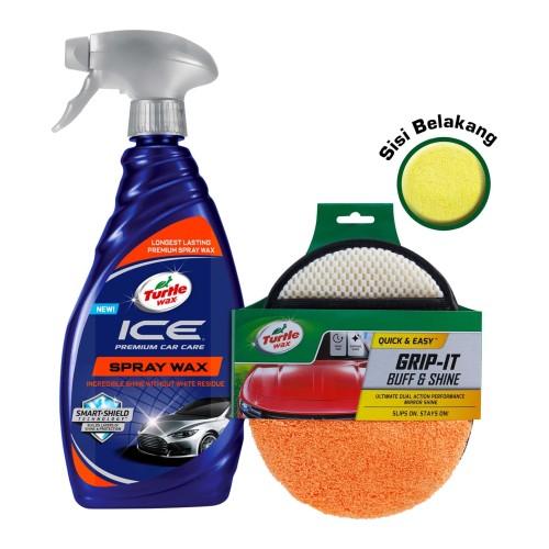 Foto Produk Turtle Wax [BUNDLE] ICE Spray Wax + Grip IT Buff & Shine dari Turtle Wax