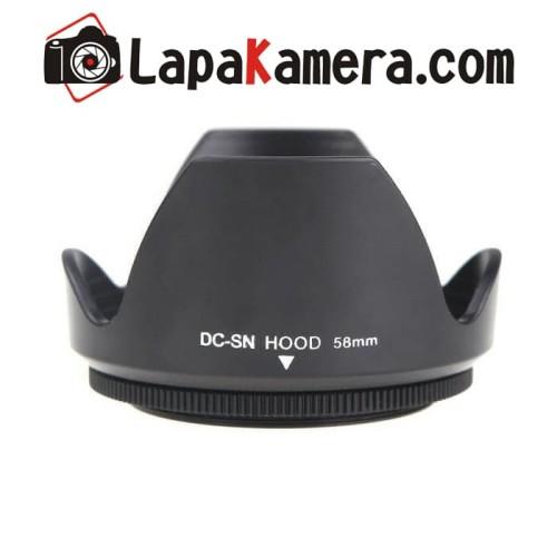Foto Produk lens hood 58mm / lenshood universal for canon, nikon, sony, fuji dll dari lapakamera