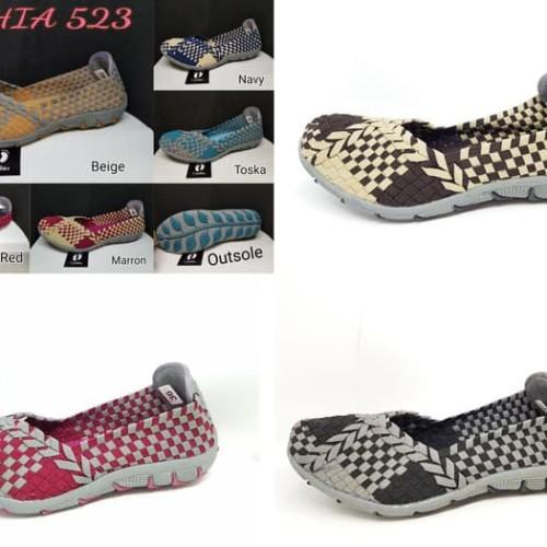 Foto Produk (ORGINAL) Sepatu Rajut Anyam Anyaman Cynthia 523 dari Pediashoes