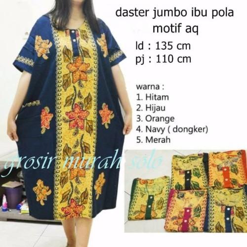 Foto Produk daster jumbo pola baju tidur santai dress bunga batik dari grosir murah solo