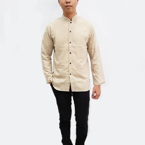 Foto Produk Jfashion Baju Koko Pria tangan panjang - Yusuf - Beige, M dari j--fashion