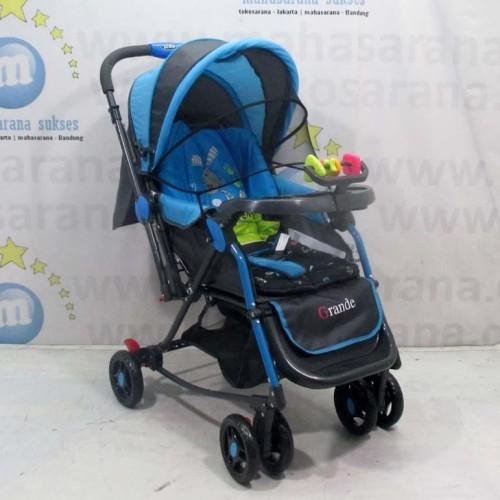 Foto Produk Pliko PK268 Grande 2in1 Baby Stroller Kereta Dorong Bayi & Ayunan Blue dari Mahasarana Sukses
