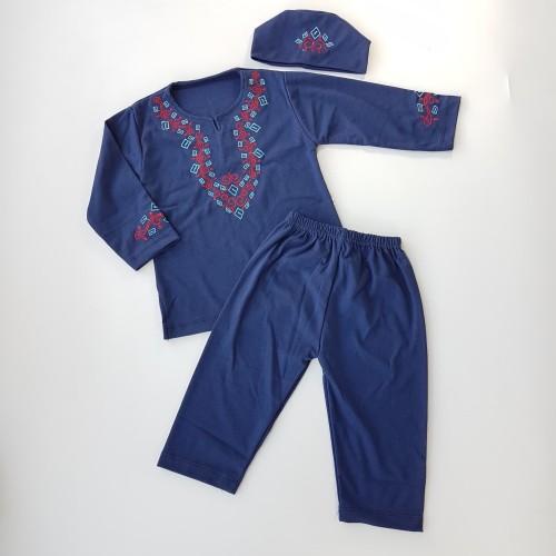 Foto Produk Stelan Baju Koko Anak - Merah dari Lemonia Kids