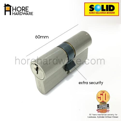 Foto Produk SOLID Double Cylinder / Kunci Silinder 60 mm DC 02 - 60 dari HORE Hardware