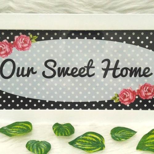 Foto Produk Poster / Pajangan / Wall Decor Shabby: Sweet Home 1 dari ai_decor