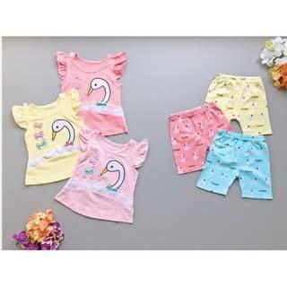 Foto Produk PROMO dari Lovechildren    SWAN RIBBON CUTE baju setelan celana dari lovechildren