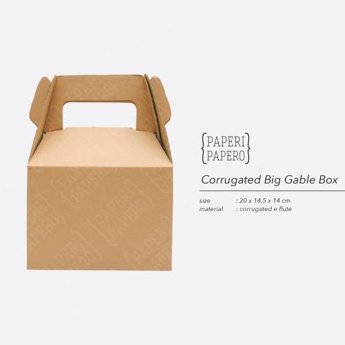 Foto Produk Corrugated Gable Box - Kotak Kardus Unik dari {Paperi Papero}
