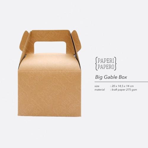 Foto Produk Big Kraft Gable Box by Paperi Papero dari {Paperi Papero}