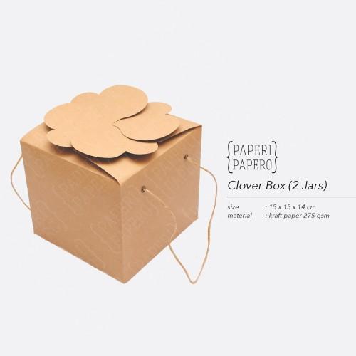 Foto Produk Clover Box - Kotak Kue Kering dari {Paperi Papero}