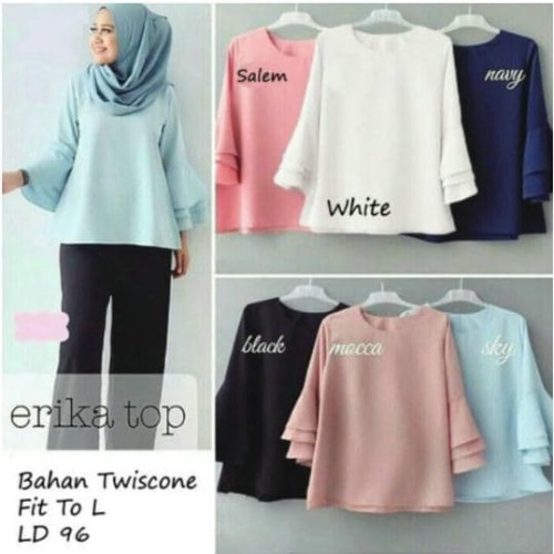 Foto Produk Terompet Blouse for Hijab Fashion - Putih dari LookaLooki Shop