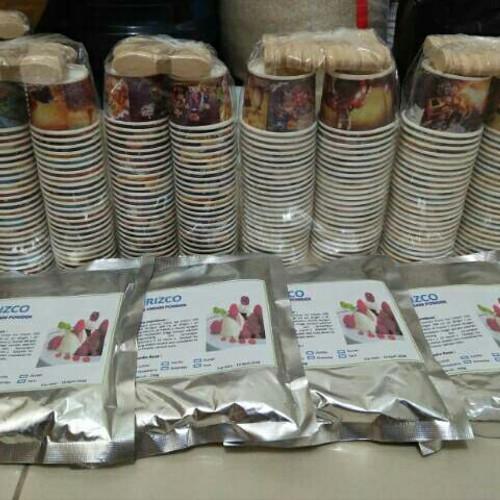 Foto Produk paket 4 bubuk +4 cup ice cream/paket ice cream dari izzishope