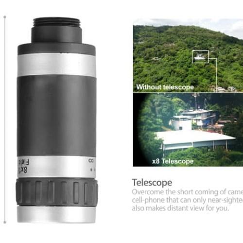Foto Produk Universal Mobile Phone Telescope Telezoom 8x Zoom dari BENTENG STORE